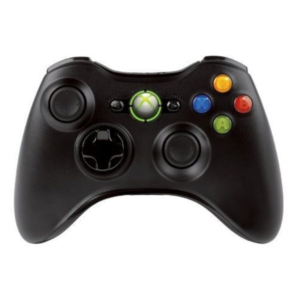 Manette sans fil pour Xbox 360 – noire (OEM)
