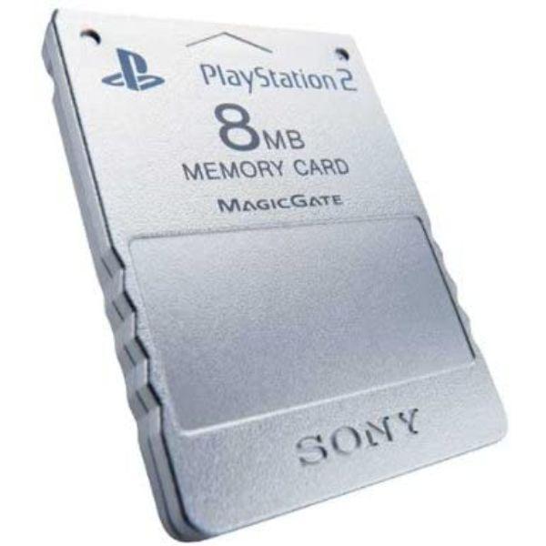 Carte Mémoire argent 8 Mo pour Playstation 2