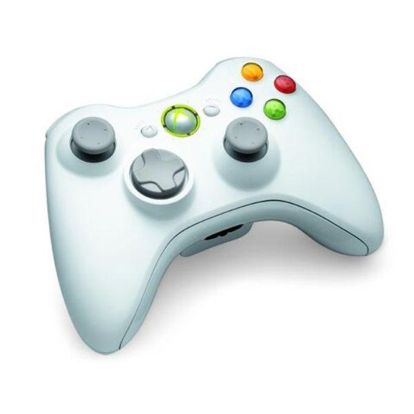 Manette sans fils blanche pour Xbox 360