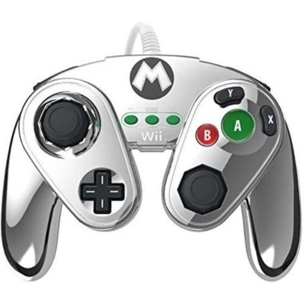 Manette fight pad pdp pour wii u – édition limitée Mario métal