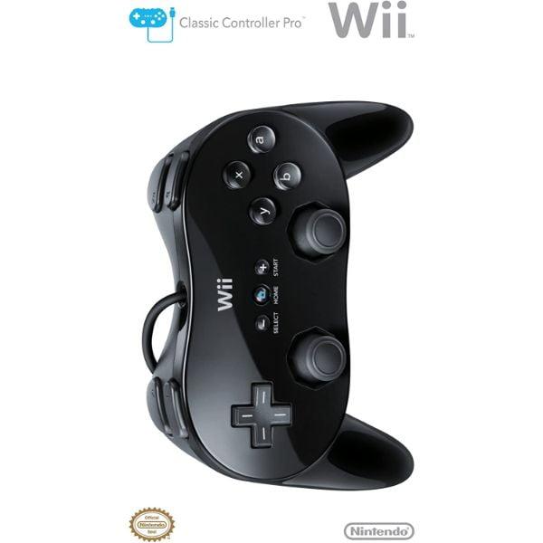 Manette classique pro Wii Noire