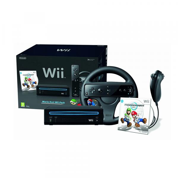 Console Nintendo Wii Noire avec Mario Kart
