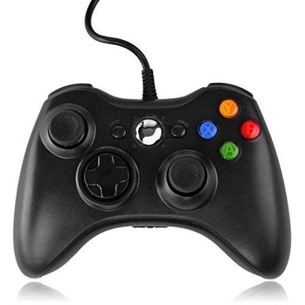 QUMOX Contrôleur filaire USB Pad Joystick Joypad Gamepad Jeu Controleur Manette pour Xbox 360 Slim et PC Ordinateur portable Windows 7